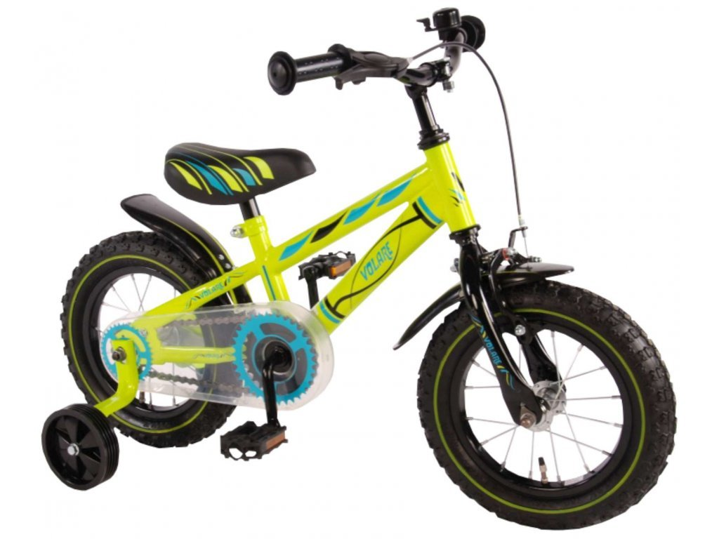 1592 detsky bicykel volare electric green 12