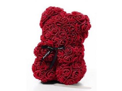 3056 medvedik z ruzi bordo rose bear 25 cm