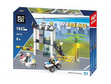 Blocki MyPolice építőkészlet rendőrállomás 193 darabos