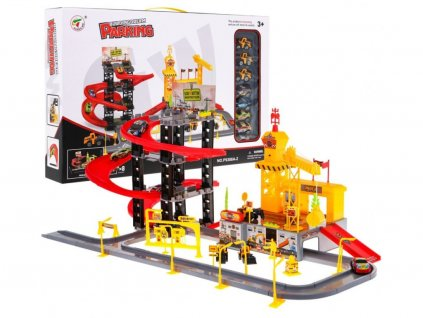 Majlo Toys Building Parking parkolóház hangokkal + 8 autó