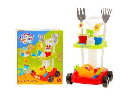 Majlo Toys Little Gardener teljesen felszerelt kerti kerekes kocsi tartozékokkal piros