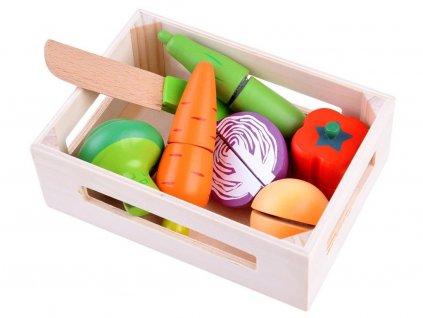 Majlo Toys Vegetable Box zöldségkészlet egy faládában
