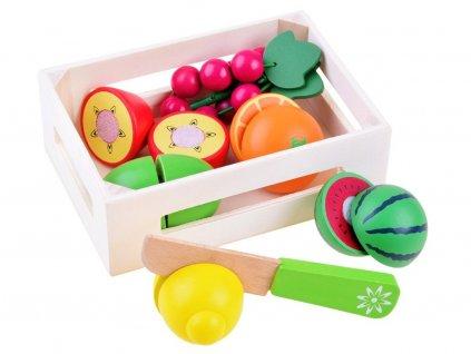 Majlo Toys Fruit Box fa gyümölcsökkészlet egy faládában