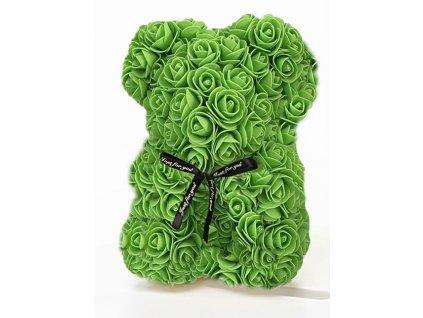 medved z ruzi 25 cm zeleny