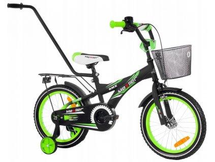 1061 detsky bicykel mexller bmx s vodiacou tycou cierno zeleny 16