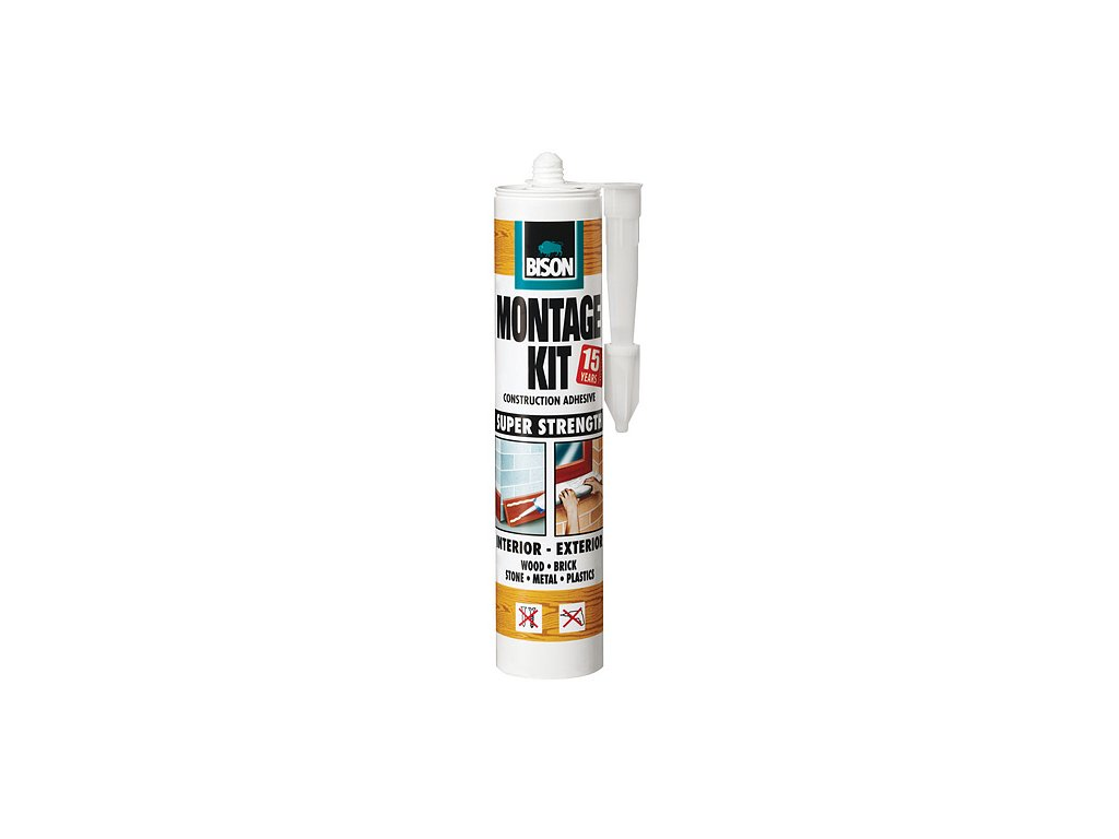 Lepidlo Bison Montage Kit, 310 ml, montážne