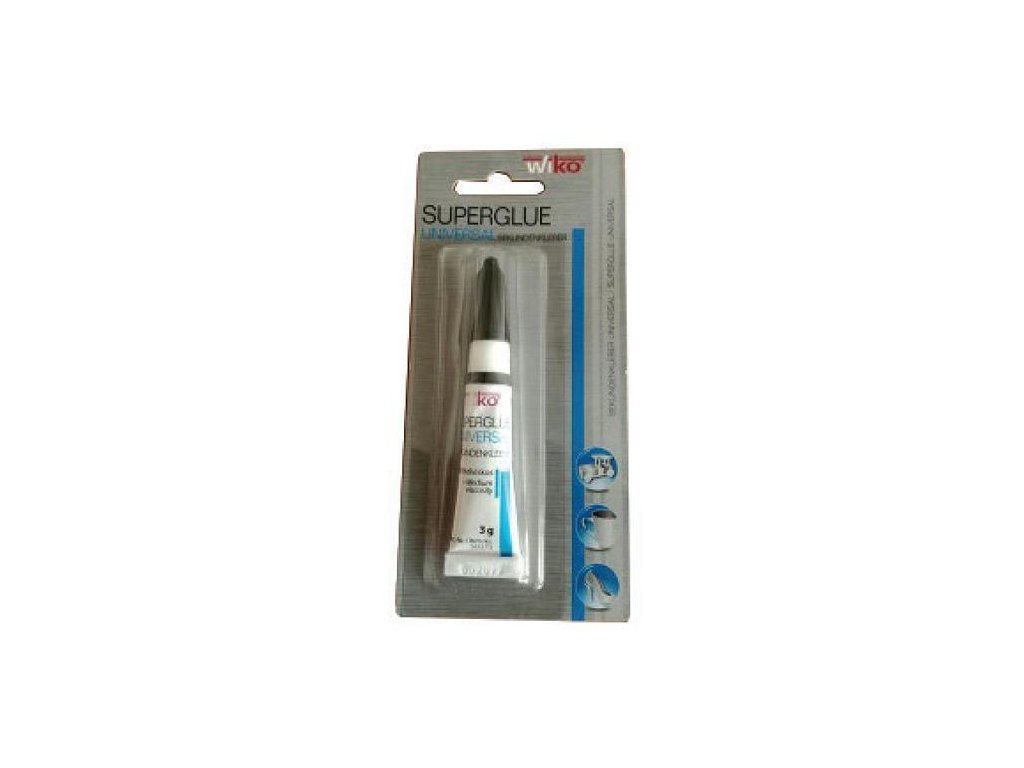 Lepidlo Wiko® UNIVERZALNE 140, SG140.T3  3 g, sekundové, blister