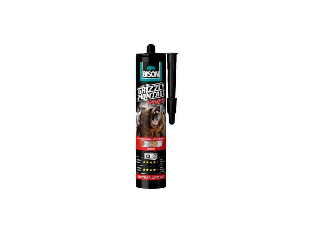 Lepidlo Bison Grizzly Montage Power White 370g, Interier