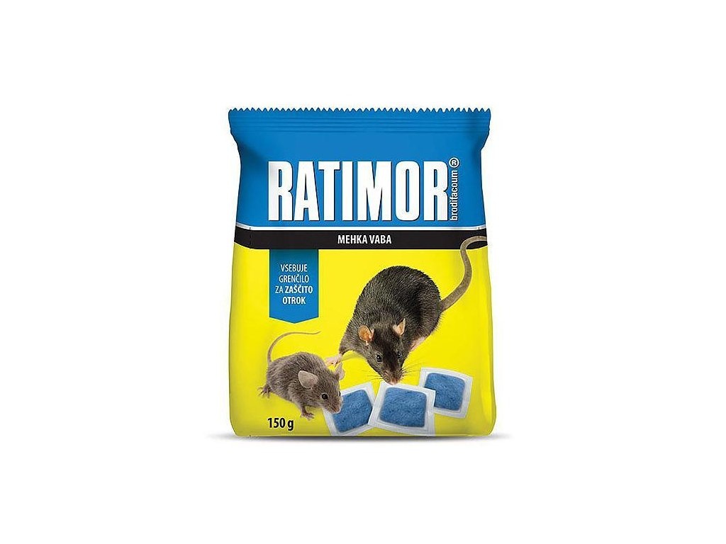 Navnada RATIMOR® Brodifacoum fresh bait, 150 g, mäkká