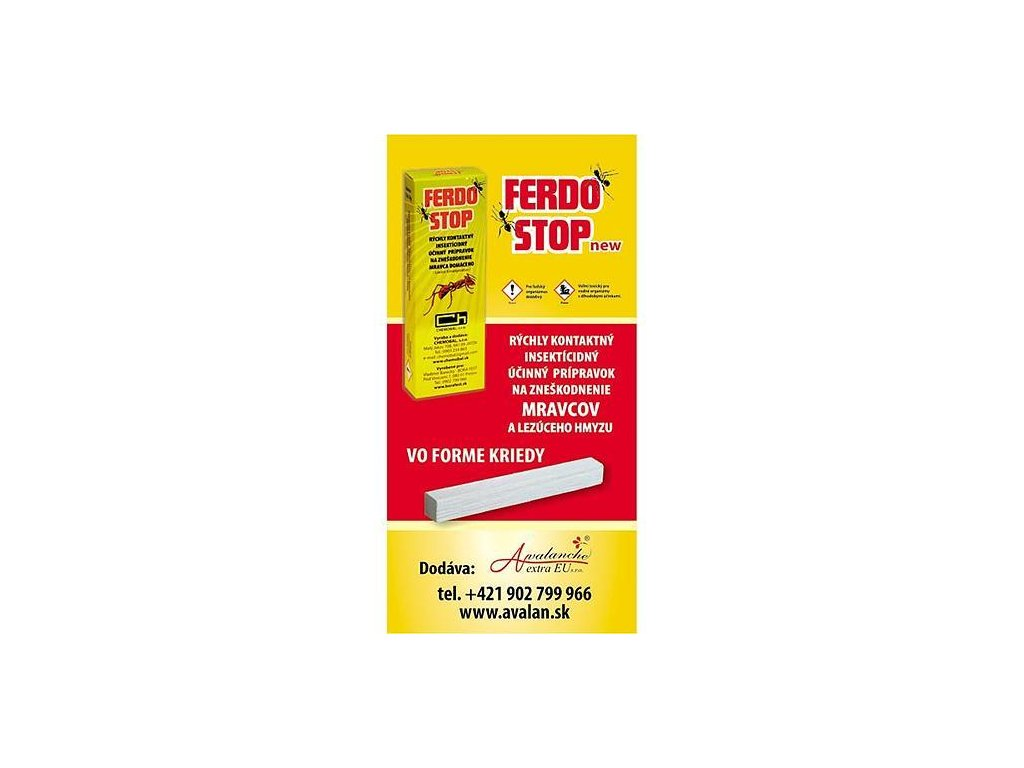 FerdoStop, krieda proti mravcom a plošticiam