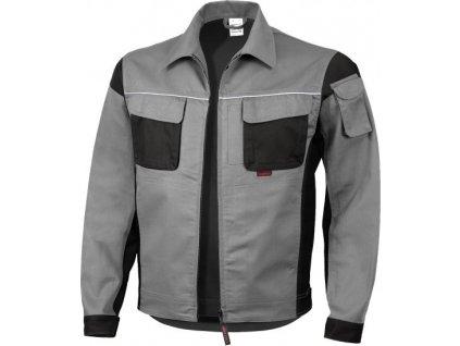 Profesionálna pracovná bunda s golierom, sivá/biela, veľkosť XXXL