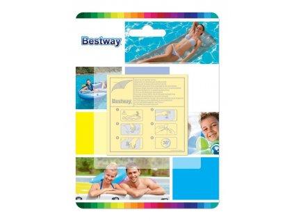 Sada Bestway® 62068, 65x65 mm, na opravu bazéna a nafukovačiek, 10 ks
