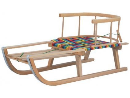 Sane Sierra, 87x34x38cm, sánky drevené, s opierkou, s poprouhom