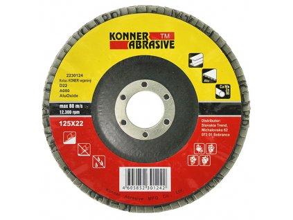Kotuc KONER D22 115x22 mm, A040, AluOxide, vejarový, lamelový