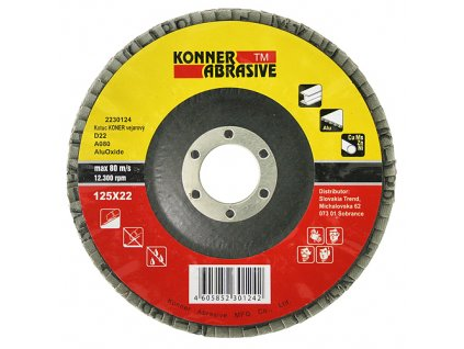 Kotuc KONER D22 125x22 mm, A100, AluOxide, vejarový, lamelový