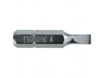 """Bit Narex 8071 00, plochý, Hex 1/4"""", 3,0/30 mm, bal. 30 ks"""