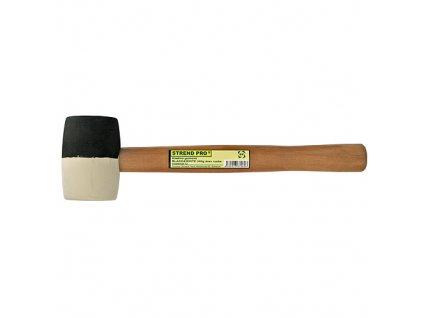 Kladivo Strend Pro HM232 340 g, gumové, BlackWhite, drev. rúčka