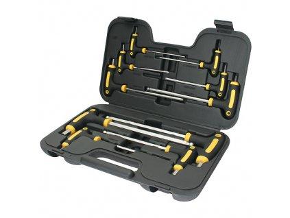 Sada skrutkovačov YF70019, 10 dielna, Hex, držiak T, Cr-V, Imbus, v kufri