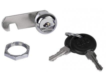 Zamok SISO 14.04.430-0, 19x11 mm, CAM07, Cr, nábytkový
