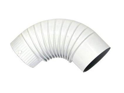 Koleno 120mm smalt biele