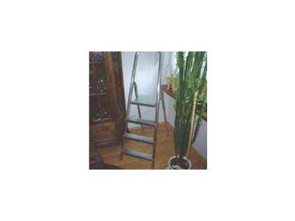 Rebrík ALW 3-priečkový jednostranný s plošinkou