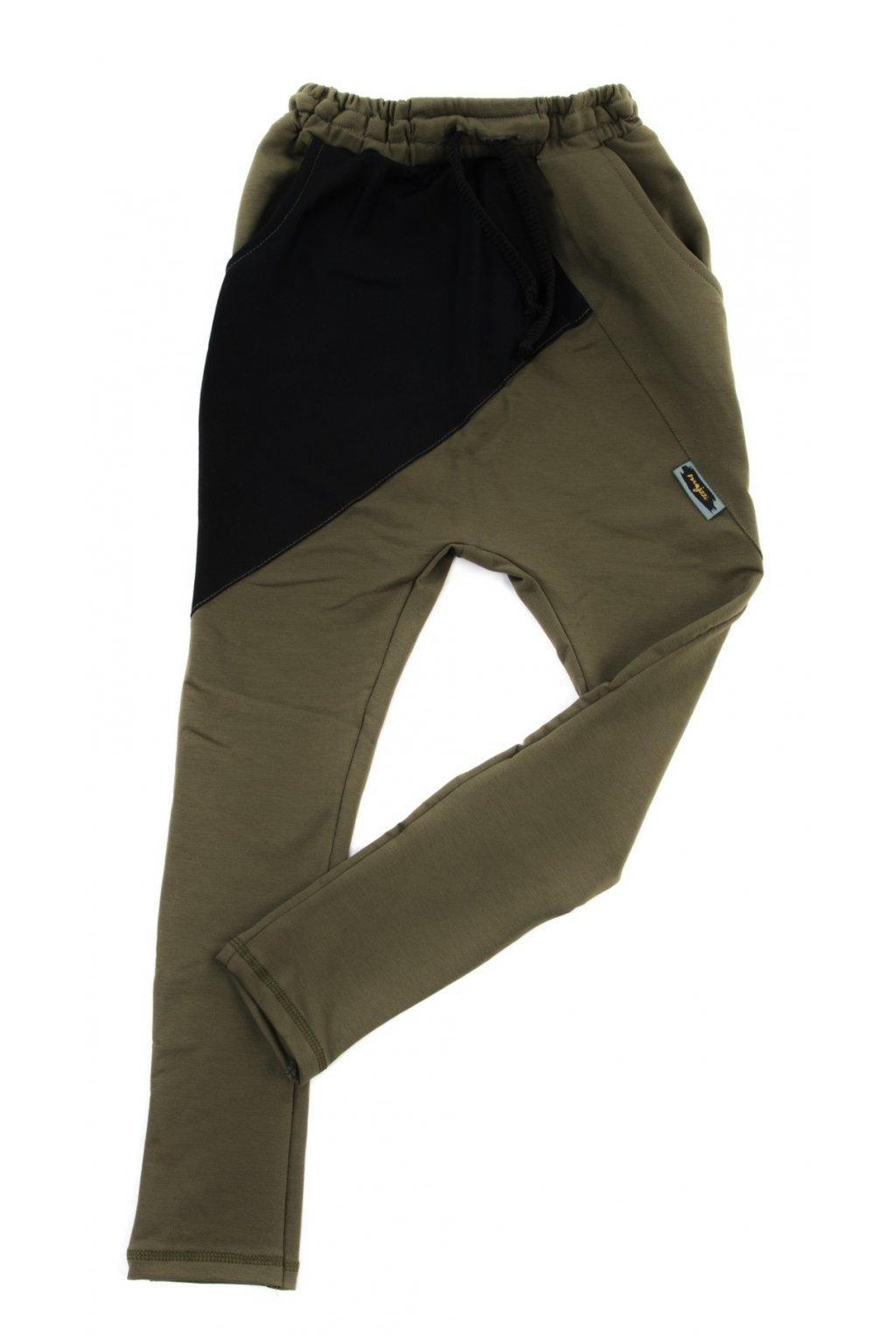 Kalhoty Khaki/černá