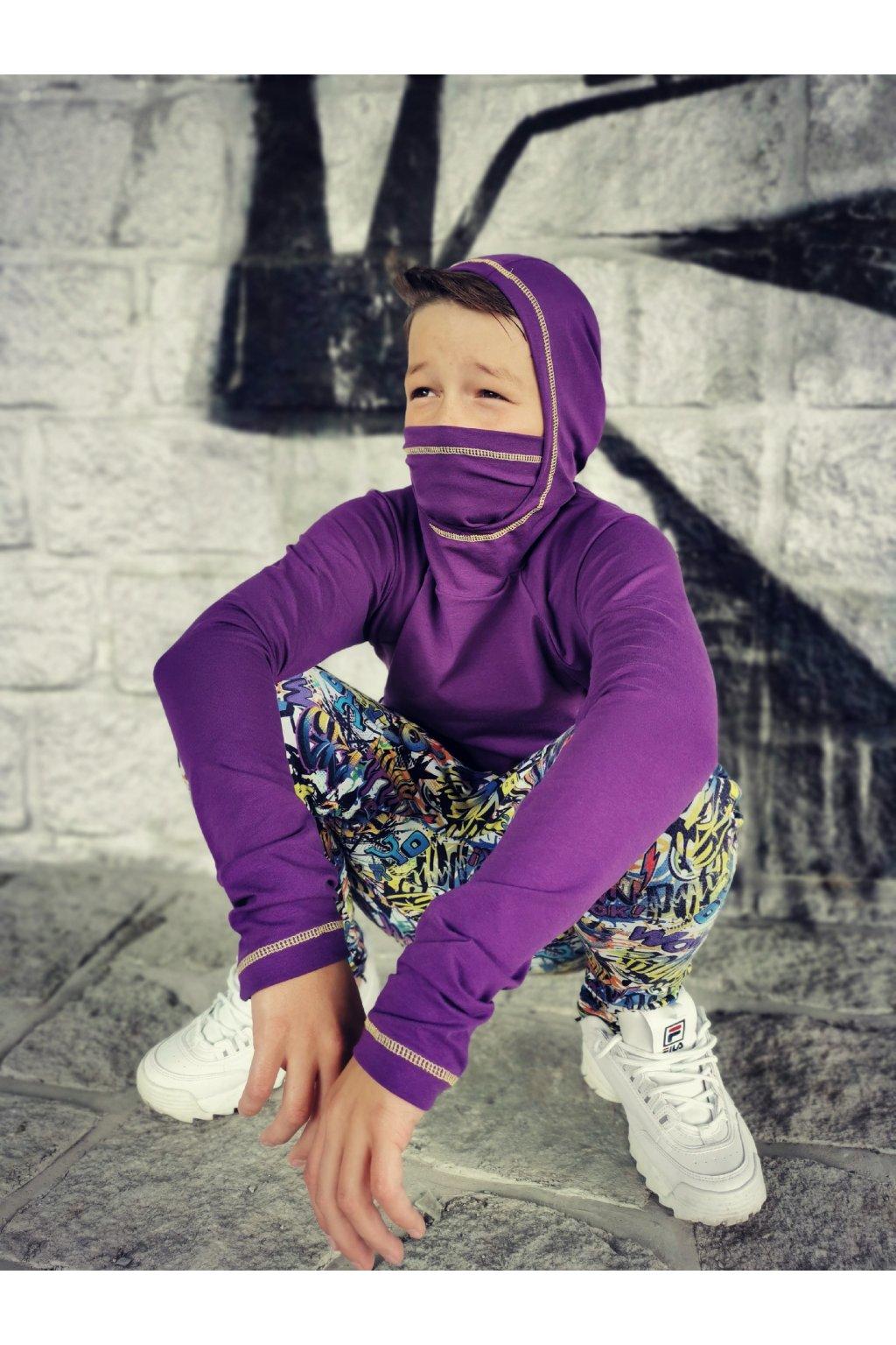 Triko Ninja - fialové