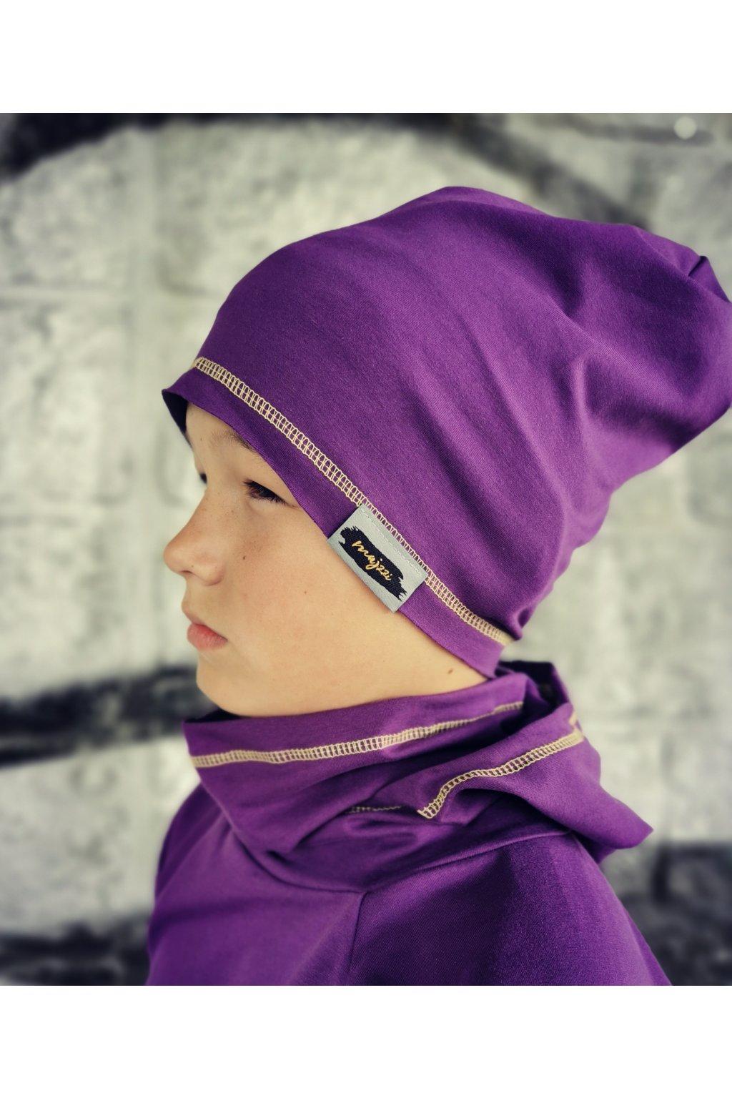 Čepice - fialová