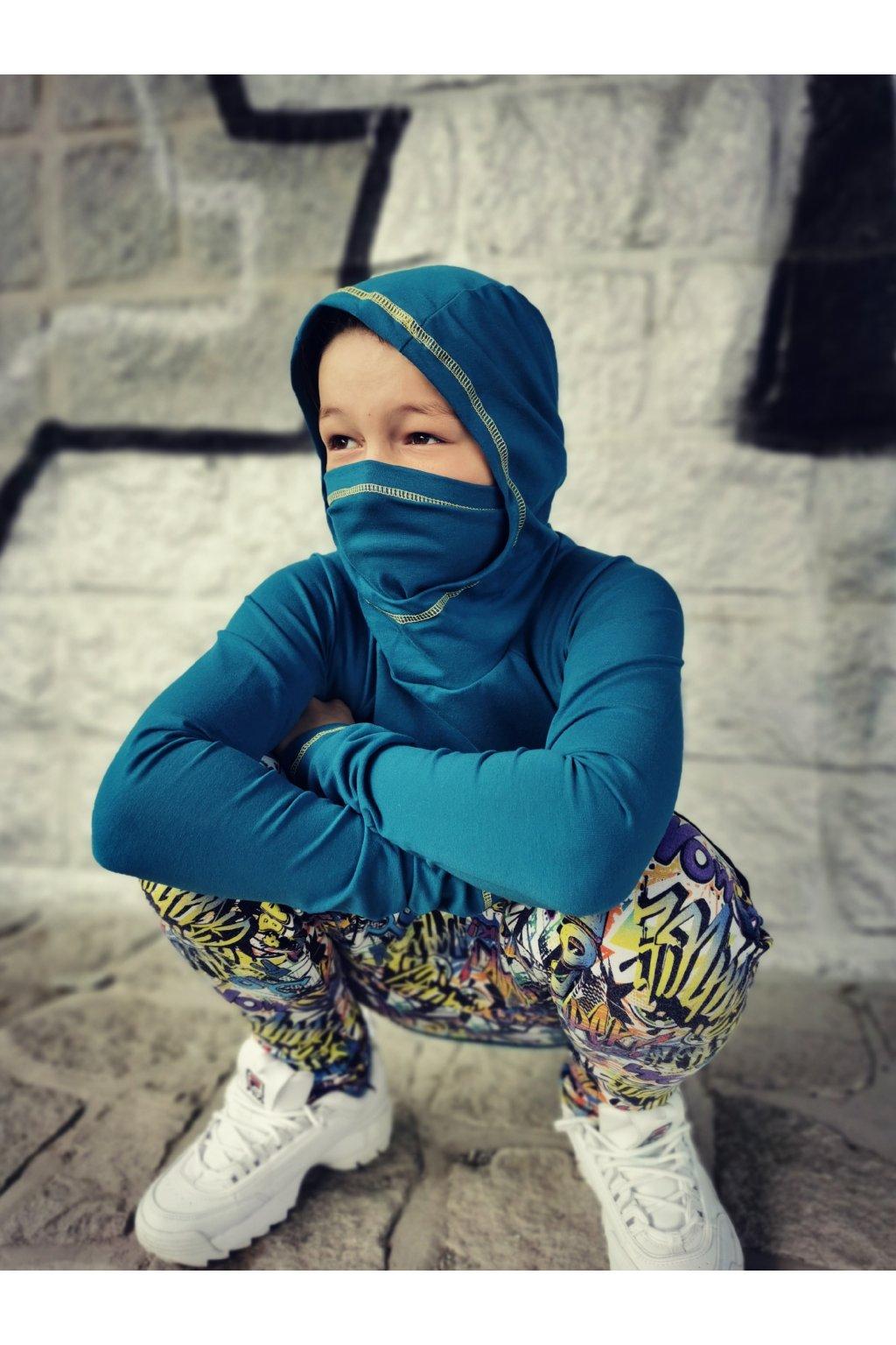Triko Ninja - petrolejové