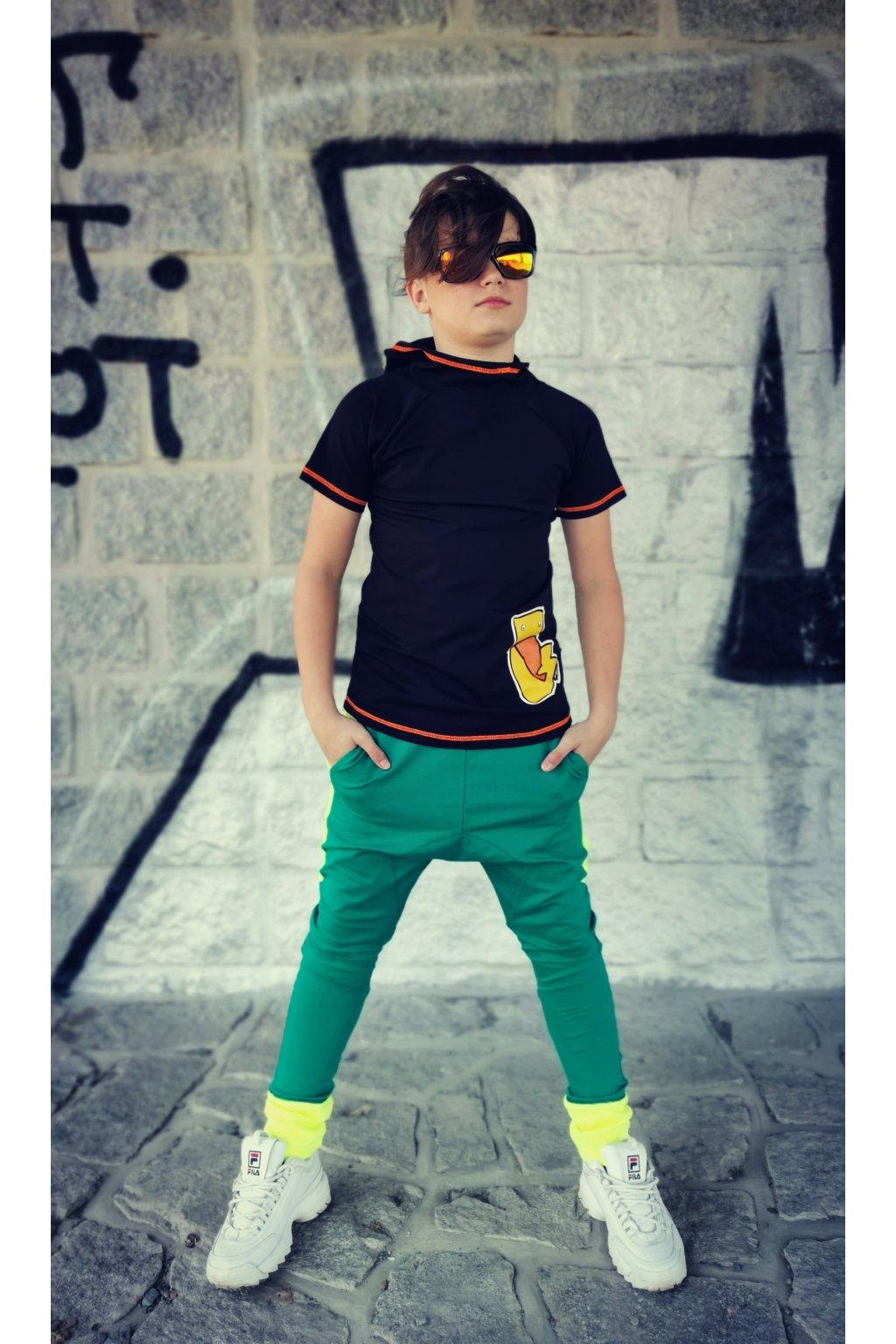 Kalhoty Green - neon