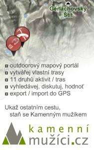 Outdoorový mapový portál Kamenní mužíci.cz