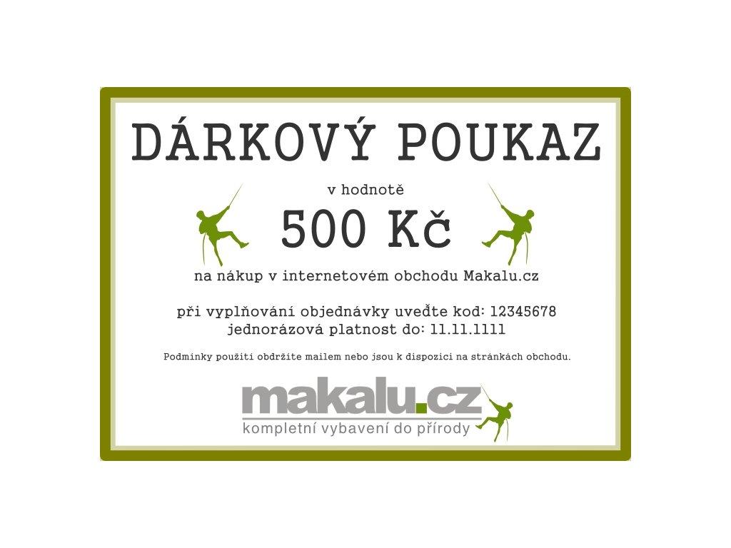 Dárkový poukaz Makalu 500 Kč