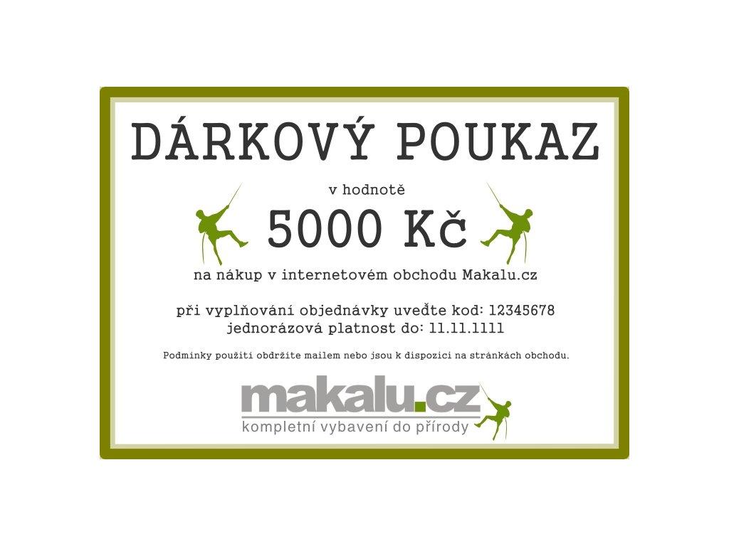 Dárkový poukaz Makalu 5000 Kč