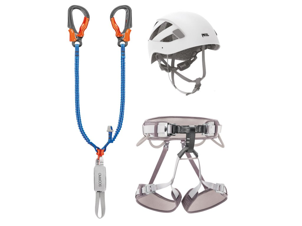 Petzl ferratový set KIT VIA FERRATA EASHOOK 01