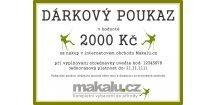 Dárkový poukaz Makalu 2000 Kč