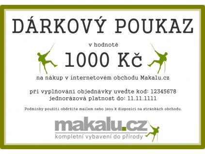 Dárkový poukaz Makalu 1000 Kč