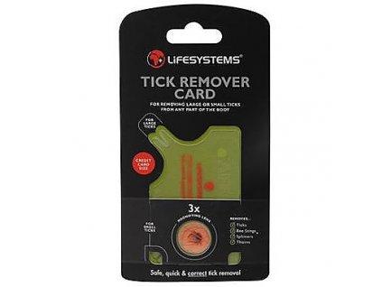 Lifesystems Tick Remover Tool (Card) na klíšťata 01