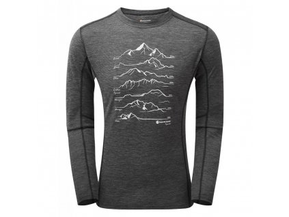 Montane triko Primino 140G 7 Summits Long Sleeve T Shirt 01