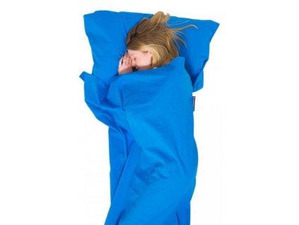 LFS33040194 Cotton Sleeping Bag Liner, Mummy (Blue) 2