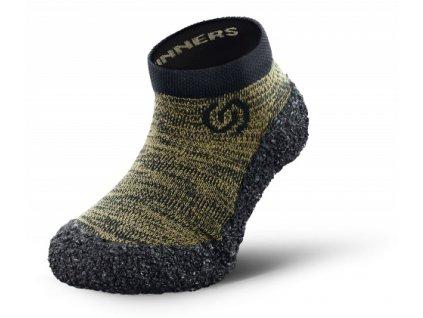 Skinners dětské ponožkoboty Kids Line Olive Green 01