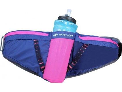 RaidLight běžecká ledvinka s lahví Activ 600 Belt W Darkblue Pink 01