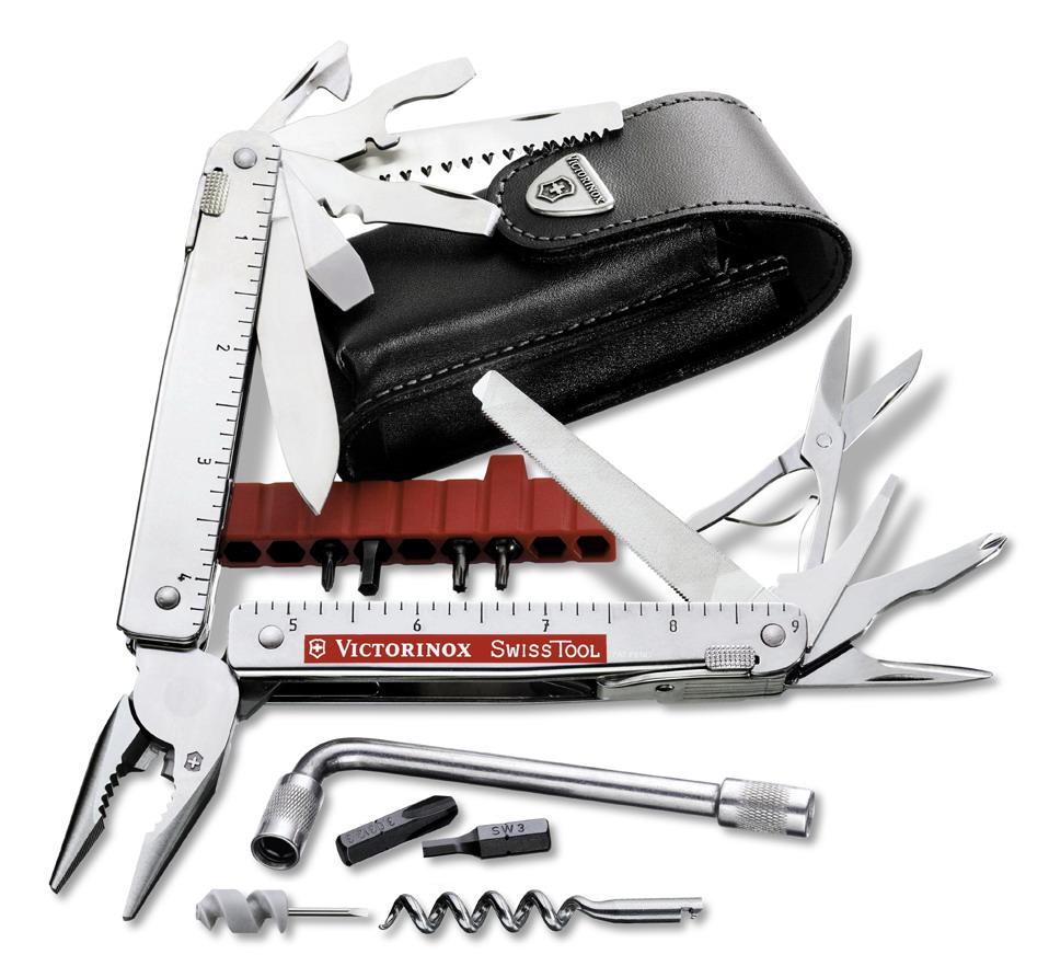 Victorinox nářaďový nůž SwissTool Plus + pouzdro Typ nebo varianta produktu: nůž v koženém pouzdře (3.0338.L)