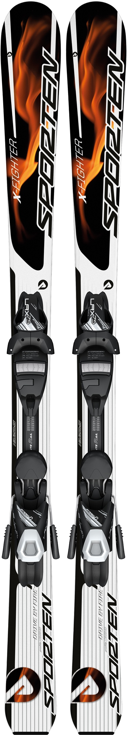 Sporten set sjezdové lyže X-Fighter JR 13/14 + Tyrolia LRX 7.5 AC a deska Barva, typ:: Sporten X-Fighter JR, Délka (cm):: 130