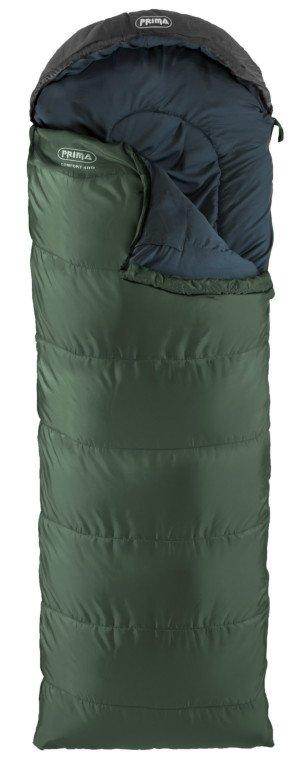 Prima Basic spací pytel Comfort 400 Barva: zelená, pravý zip
