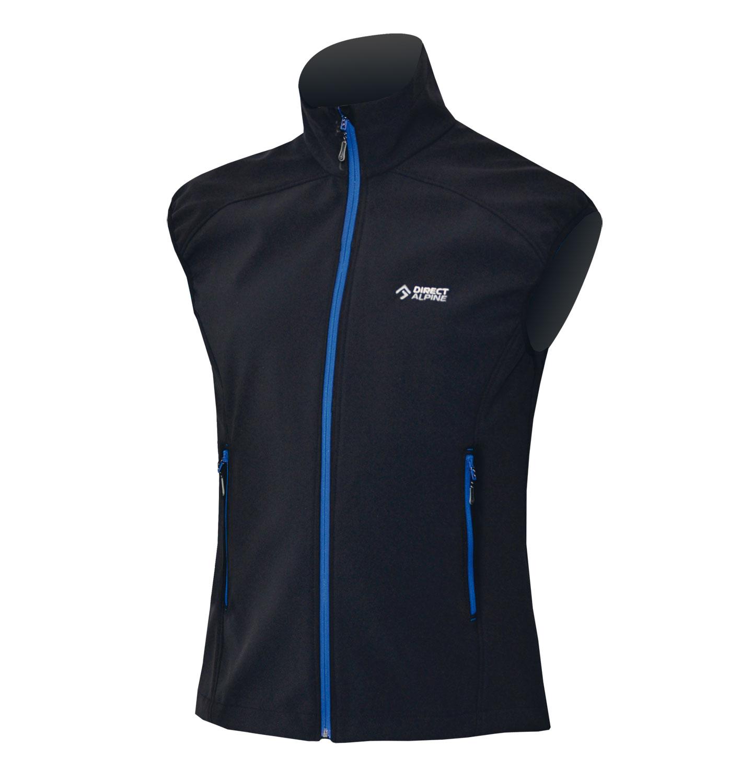 Direct Alpine vesta Lizzard 5.0 Barva: černá, modrý zip, Velikost nebo typ: M