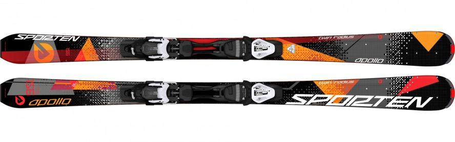 Sporten sjezdové lyže Apollo red 15/16 set deska vázání Tyrolia PR 11 Barva, typ:: Sporten Apollo set, Délka (cm):: 140