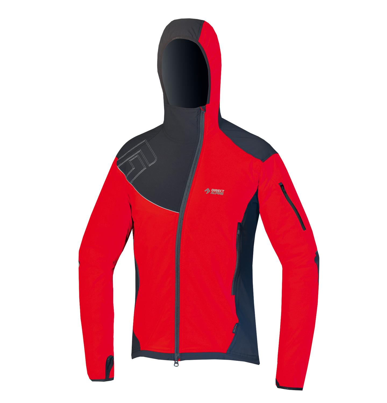Direct Alpine softshellová bunda Dru 3.0 Barva: červená, Velikost nebo typ: L