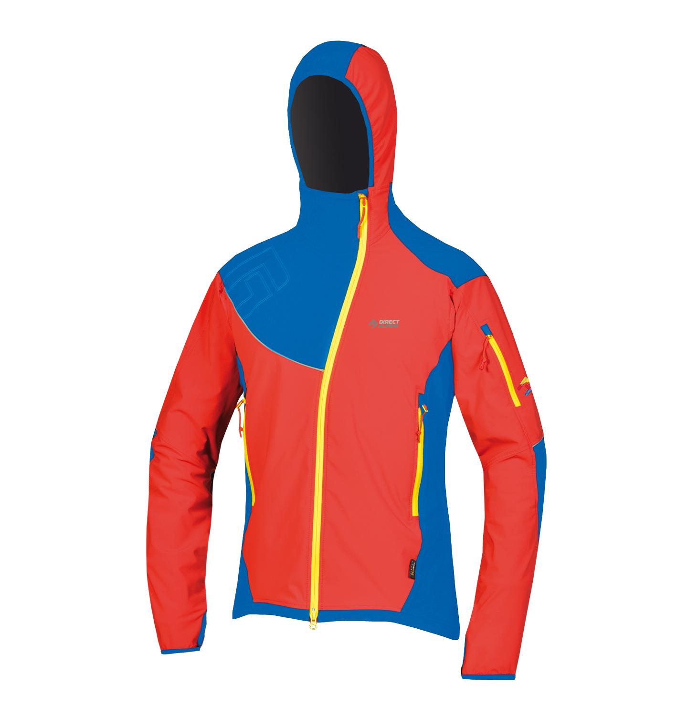 Direct Alpine softshellová bunda Dru 3.0 Barva: červeno modrá, Velikost nebo typ: L