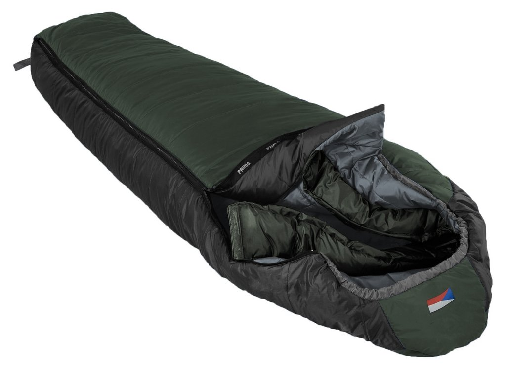 Prima spací pytel Manaslu Barva: zelená, Zip: pravý, Velikost (cm): 200