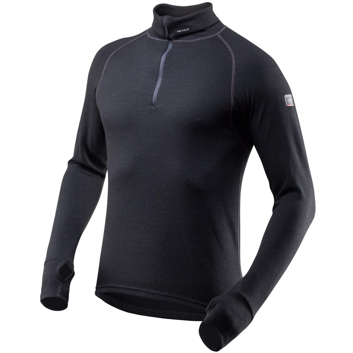 Devold triko Expedition man zip neck Barva: černá, Velikost nebo typ: S